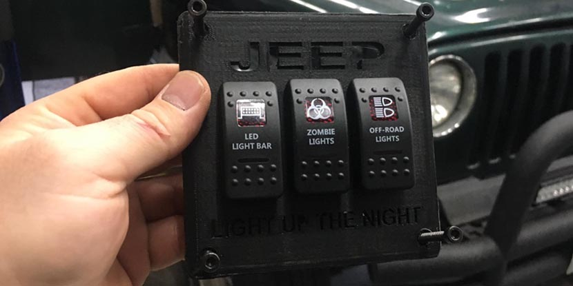 Custom 3d Printed Jeep Switch Panel